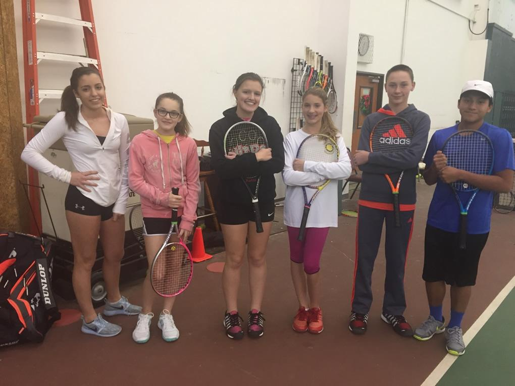 Bob's TVTC Junior Team Tennis on December 4th, 16 children attended