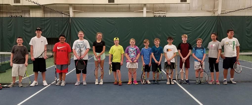 The YMCA's Junior Team Tennis on Saturday Marth 25th, 14 children attended